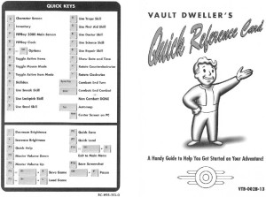 Fallout Reference Card