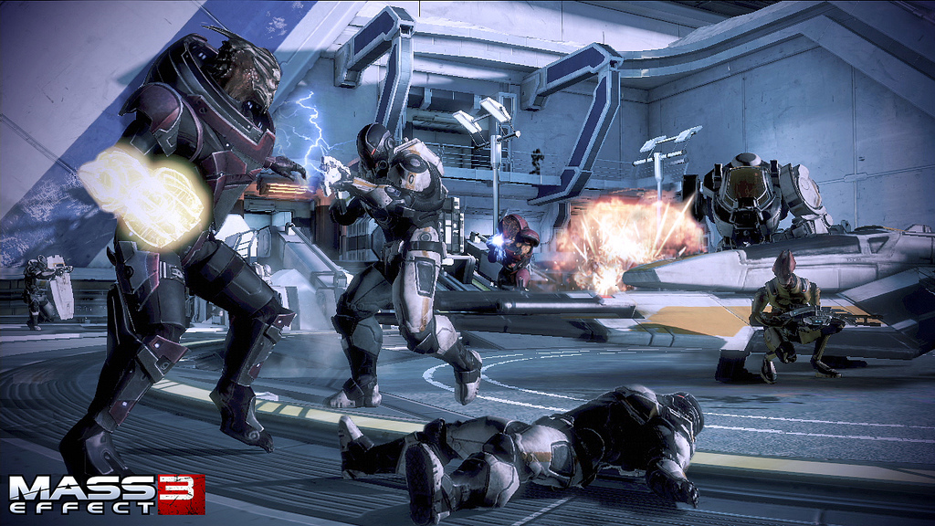 A screenshot of Mass Effect 3's co-op mode