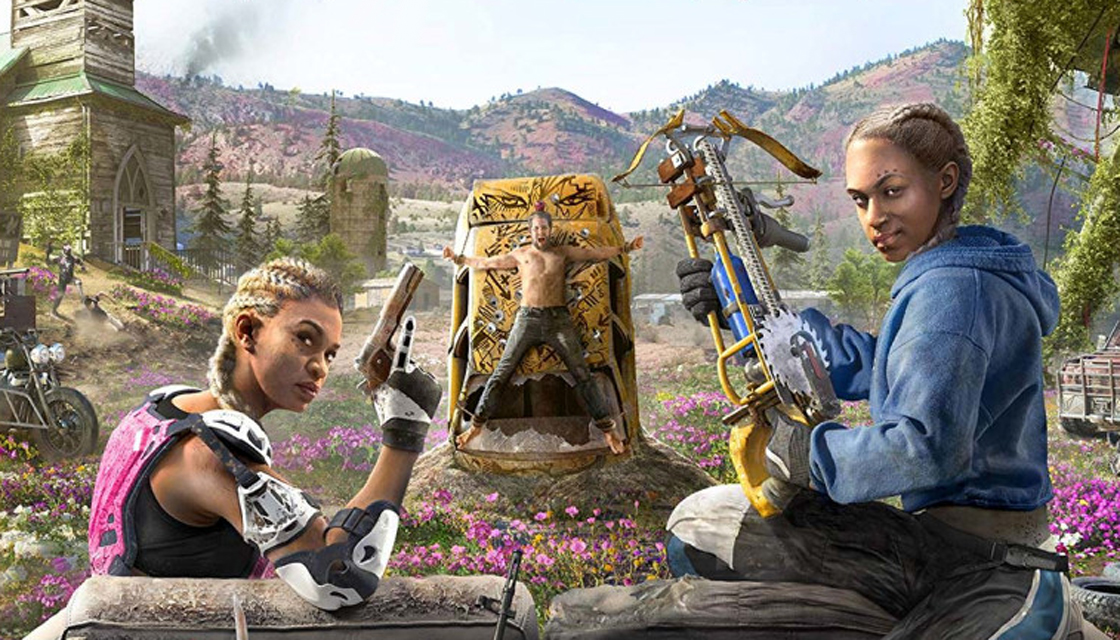 Artwork from the Far Cry: New Dawn cover